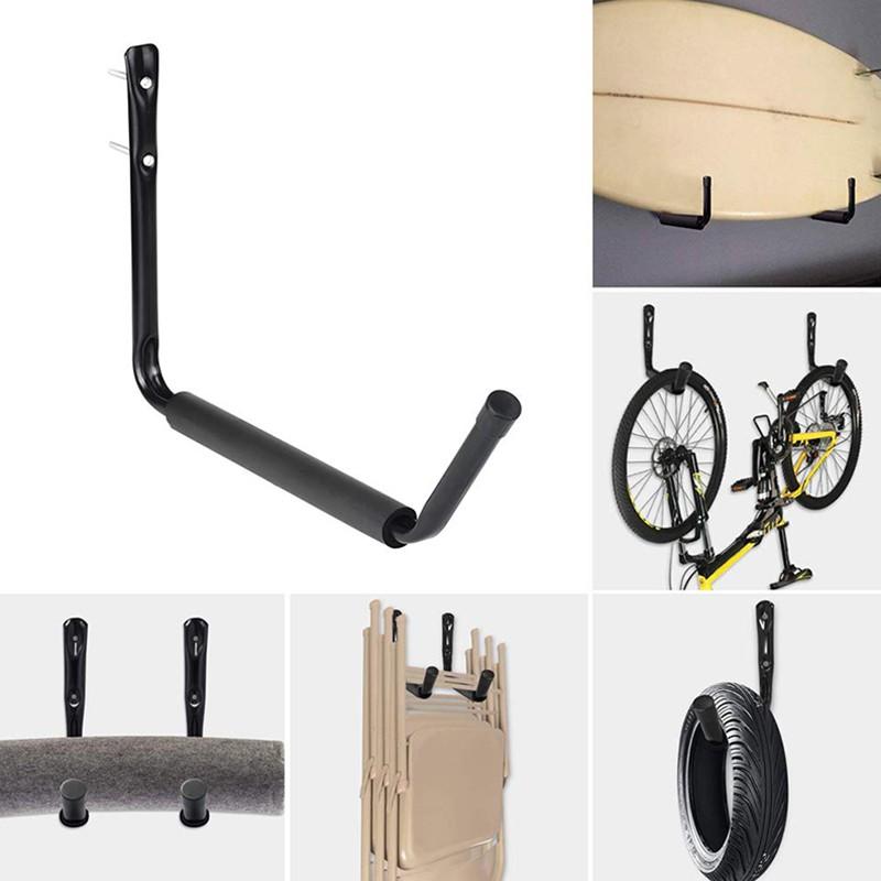Hanger Ceiling Wall Mount Storage Hook 4 Pcs Jumbo Hooks Bike Bicycle
