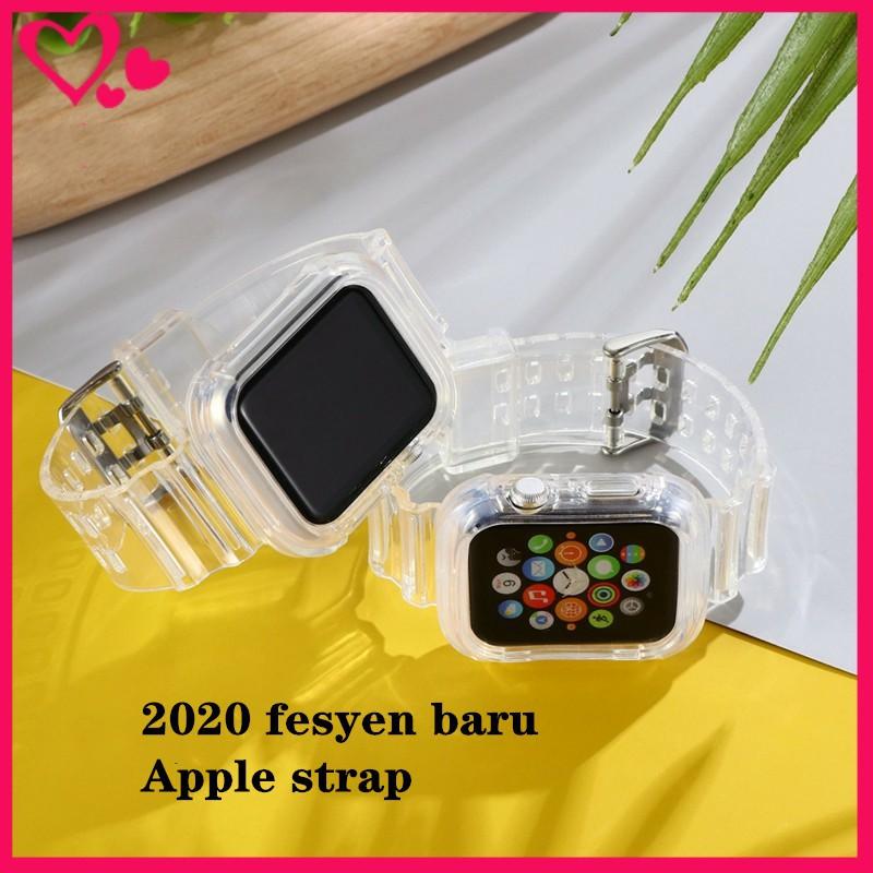 สาย applewatch สาย applewatch ใส สายแฟชั่นโปร่งใสของ Apple Watch ซีรีส์6 5 4 3 2 1
