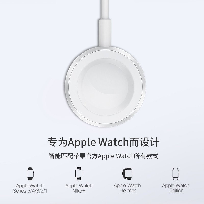 ใช้ได้กับเครื่องชาร์จ Apple watch universal iwatch5 / 4/3/2/1 รุ่น applewatch6 generation series4 SE Magnetic Suction t