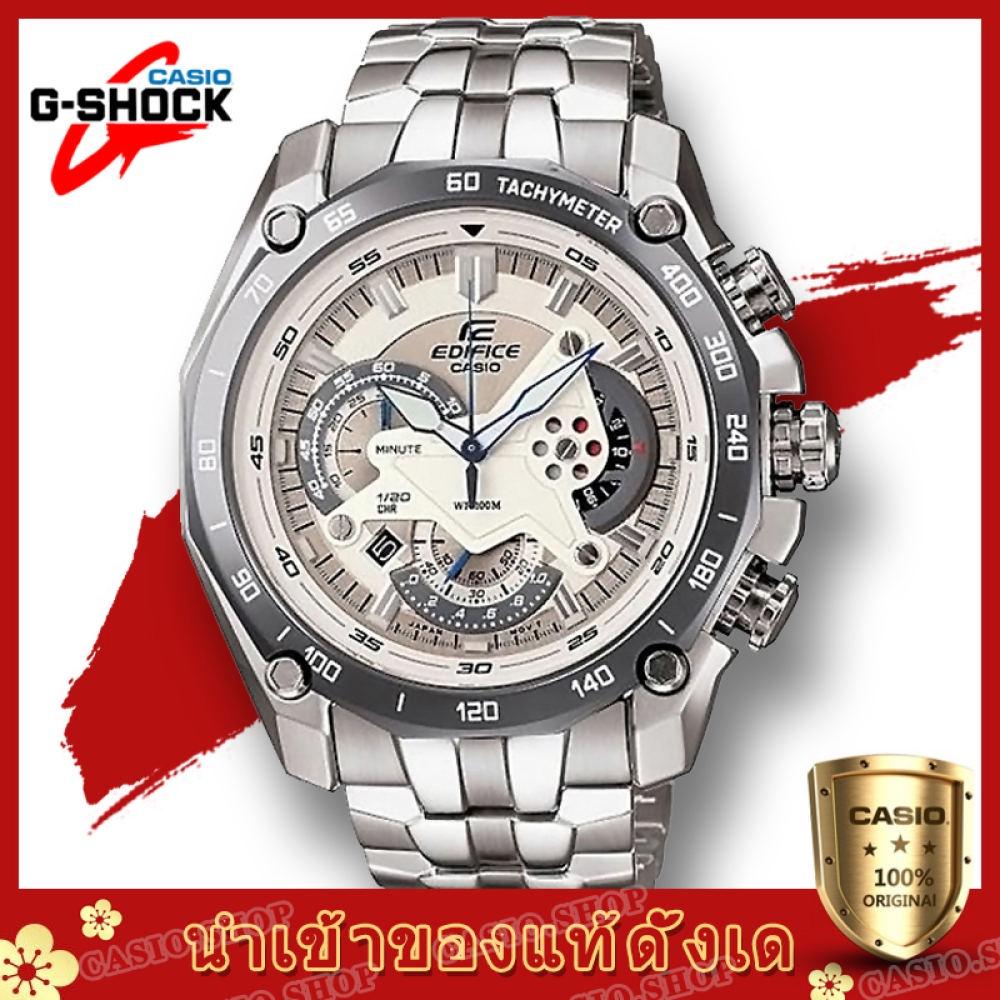 จัดส่งฟรีCasio Edifice รุ่น สินค้าขายดี นาฬิกาข้อมือผู้ชาย สายสแตนเลส EF-550D-7AV(ของแท้100% ประกันCMG)
