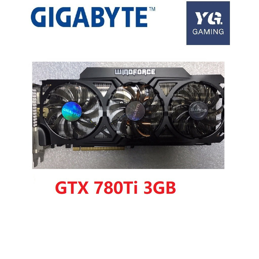Gigabyte GTX780 Ti 3G Gigabyte high-end game graphics card  three fan graphics card