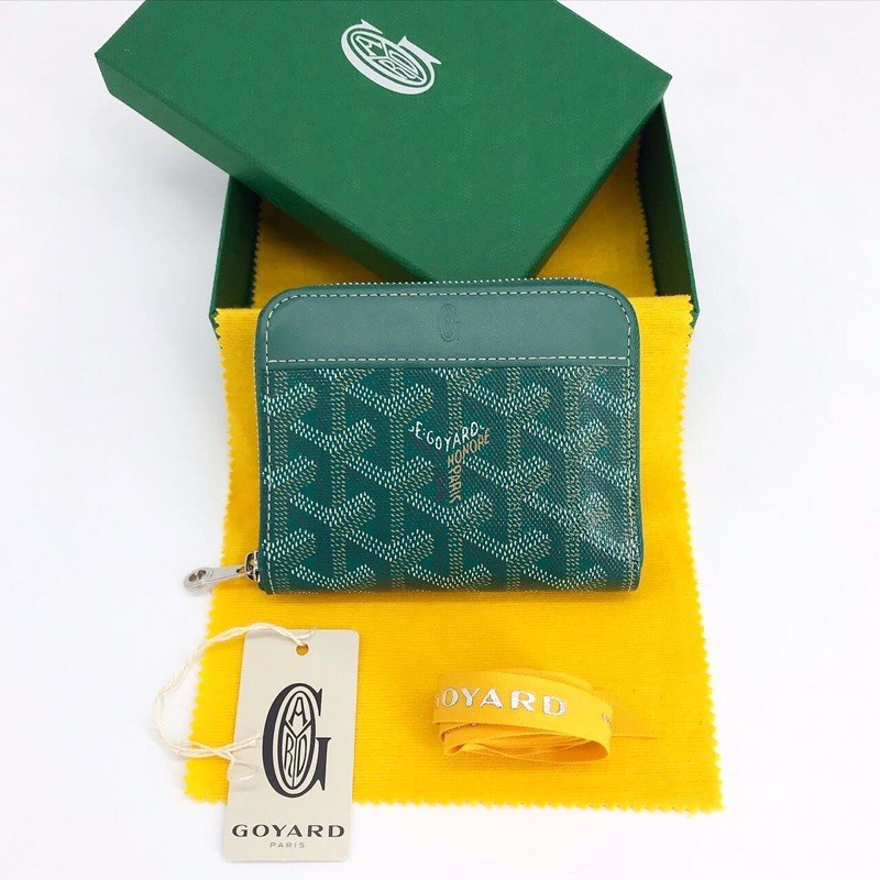 Goyard Wallet Zippy Compact (Like New! 95%) dc18 สีเขียว
