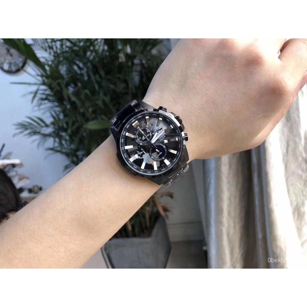 Casio สินค้าขายดี นาฬิกาข้อมือผู้ชาย สายสแตนเลส รุ่น EFR-303BK-1A Black ของแท้ รับประกัน 1 ปี