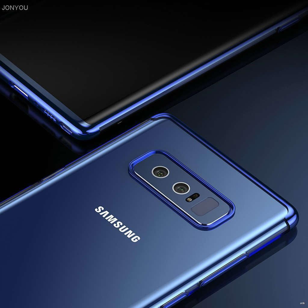 ♀❈♞🔥 Samsung Galaxy J4 J6 Prime/Plus J8 A7 A9 2018 Note 9 J2 PRO เคสซิลิโคน ซัมซุง Soft TPU Case การชุบขอบชัดเจนเคส