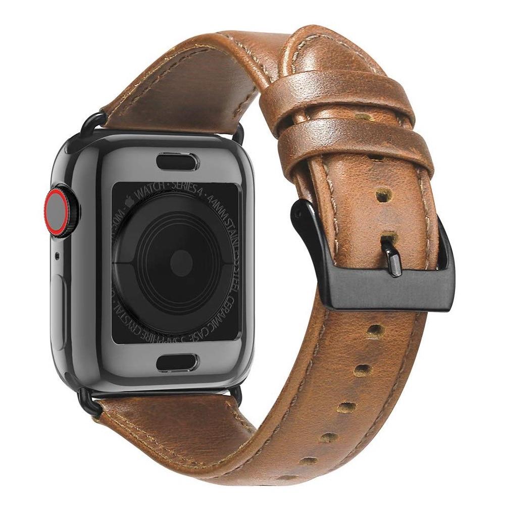 สายนาฬิกาข้อมือหนัง Correa Cinturino สําหรับ Apple Watch Series 4 5 Band 40 มิลลิเมตร