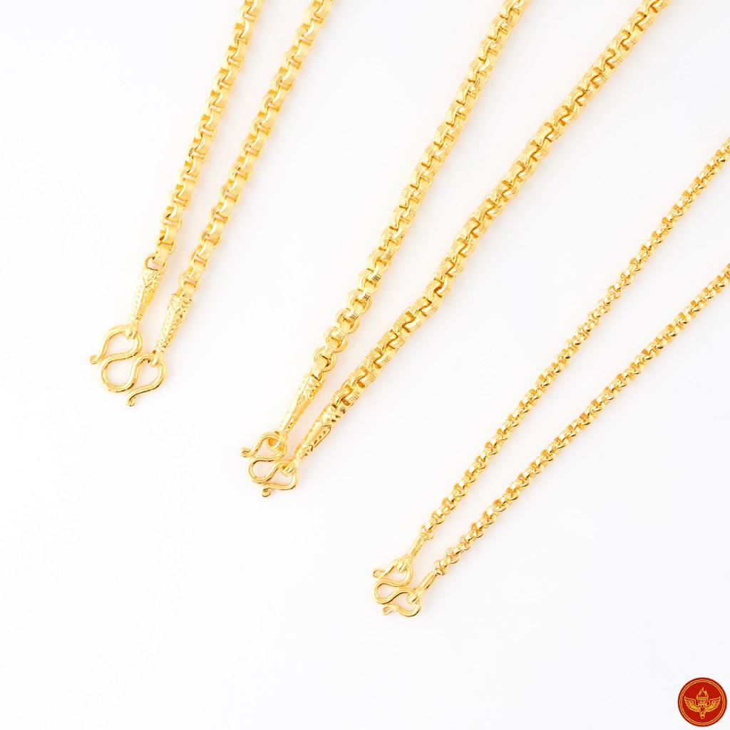 [ทองคำแท้] LSW สร้อยคอทองคำแท้ 1 บาท (15.16 กรัม) ราคาพิเศษ มาพร้อมใบรับประกัน (FLASH SALE)