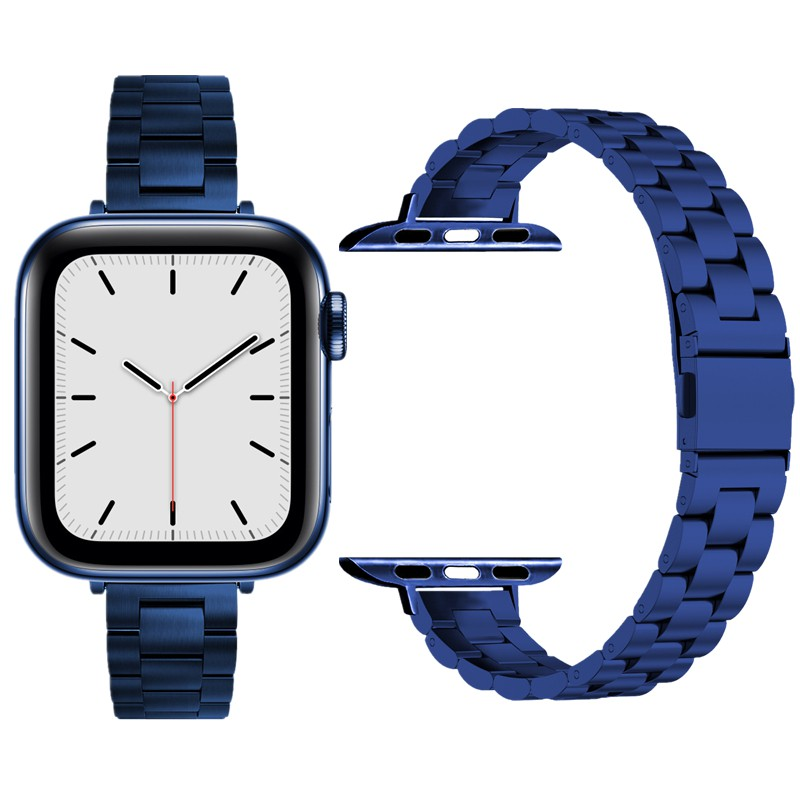 Thin Bracelet For Apple Watch 6 Band SE Strap 44mm 40mm iWatch Series 5 4 Strainless Steel Watchbands For Applewatch 3 4