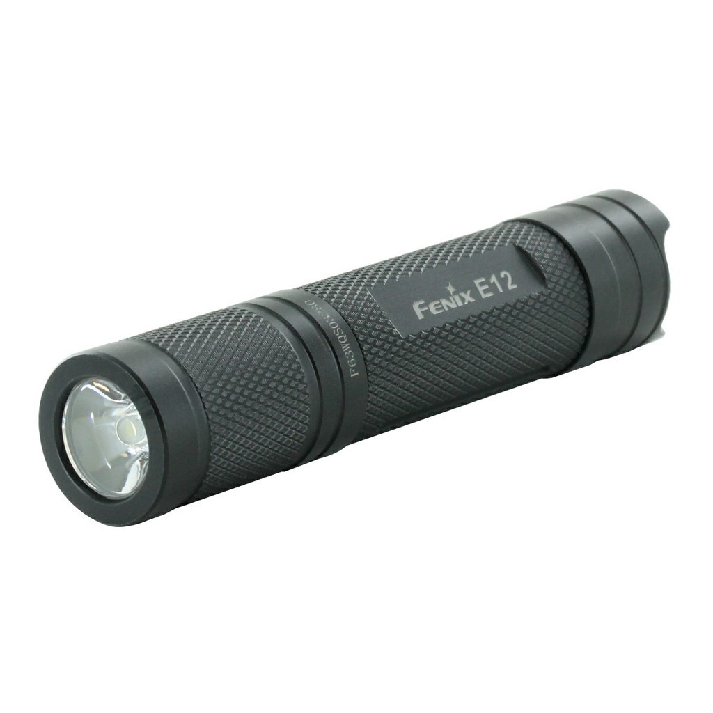 ไฟฉาย ไฟฉายแรงสูง ไฟฉายเดินป่า ฟฉายพกพา Fenix E12 Compact ทุกวัน - CREE XP-E2 LED - 130 Lumens - รวม 1 x AA ไฟฉายสว่าง