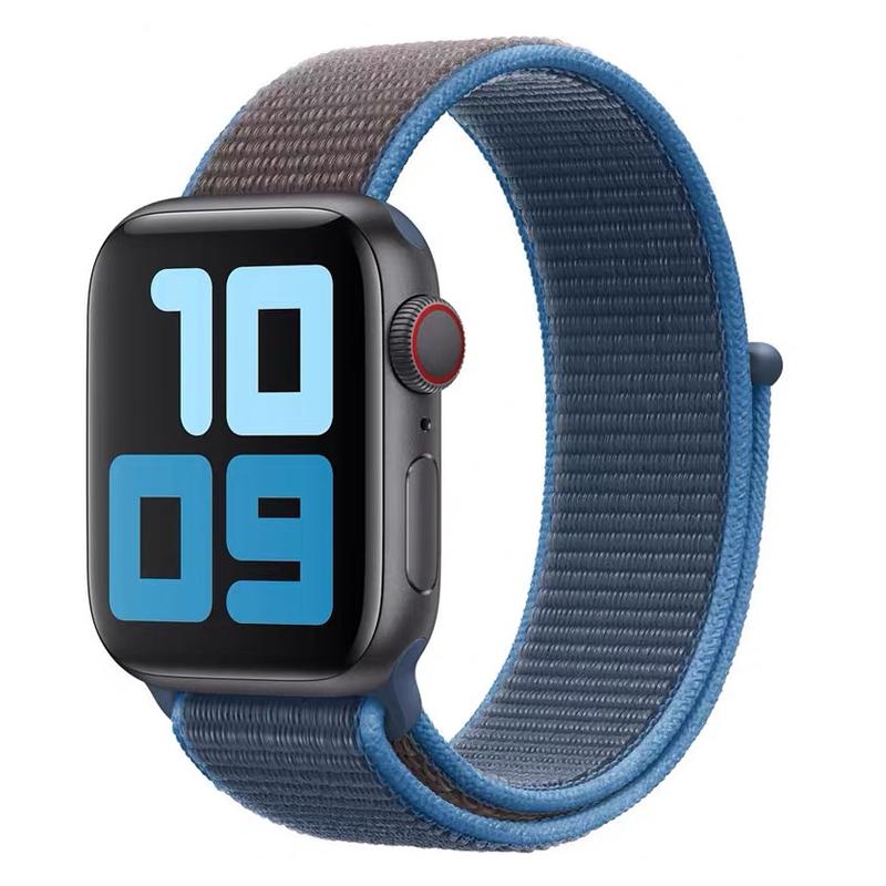 applewatchรักไม่Apple Watch SEสายไนลอนiWatch6รุ่นแอปเปิ้ลนาฬิกาสากลSeriesสายรัดข้อมือ