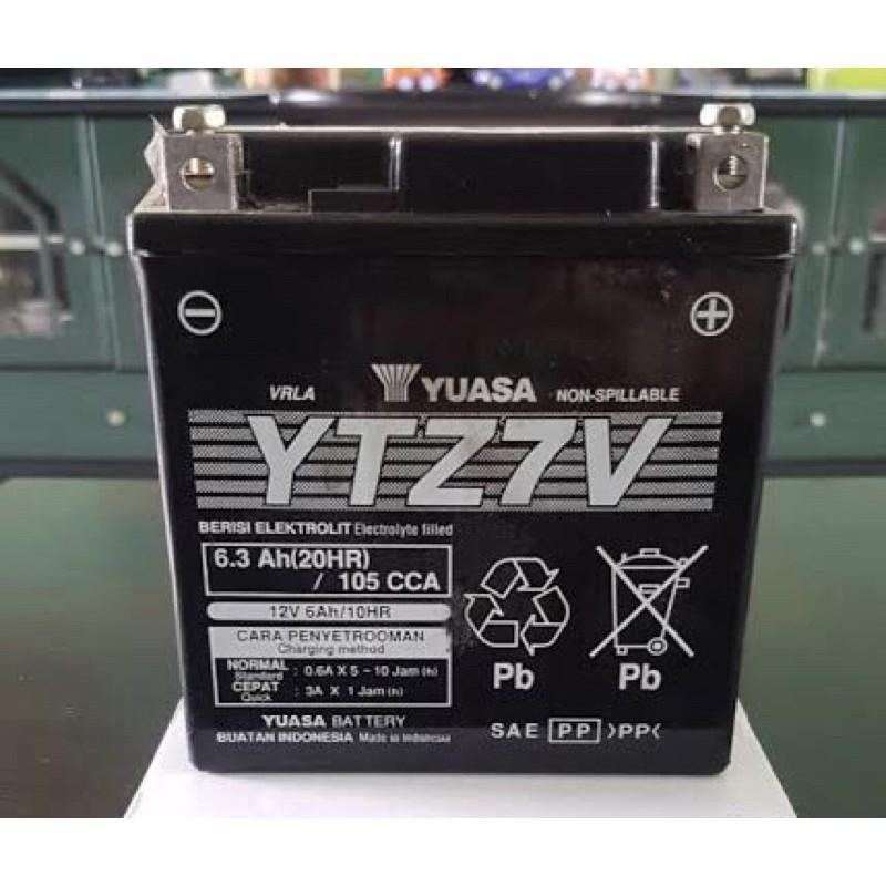 YUASA แบตเตอรี่ BIGBIKE รุ่น YTZ7V สำหรับ Honda CBR300 CBR250 Yamaha R3 AEROX N-MAX LEXI PCX-2018 G3wB
