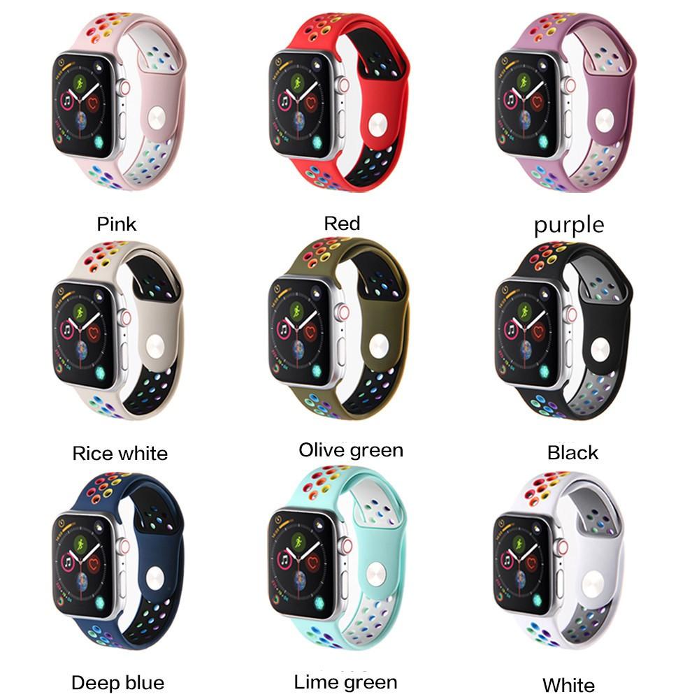 สายนาฬิกา Apple Watch สีใหม่ Nike Iwatch 44 มม. 42 มม. 40 มม. สายรัดข้อมือ 38 มม. Apple Watch Series 1 2 3 4 5 6 SE สายนาฬิกา