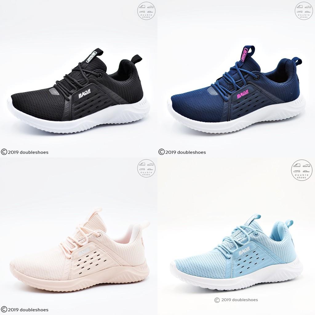 BAOJI ของแท้ 100% รองเท้าผ้าใบหญิง รองเท้าวิ่ง รองเท้าออกกำลังกาย รุ่น BJW499 (สีดำ /กรม /ชมพู) ไซส์ 37-41