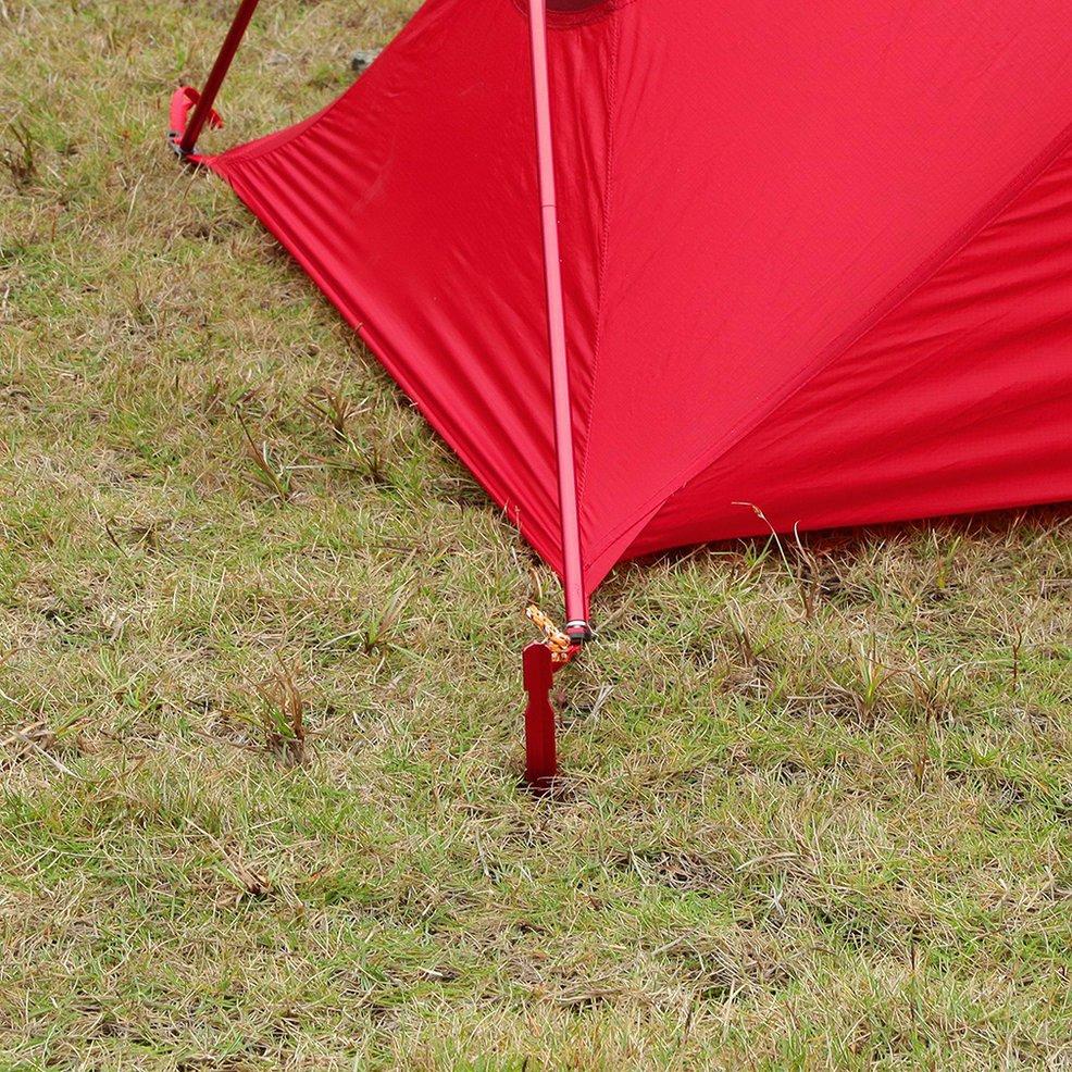 5x Heavy Duty Aluminium Alloy Camping Tent Ground Sheets Tarp Hooks Stakes