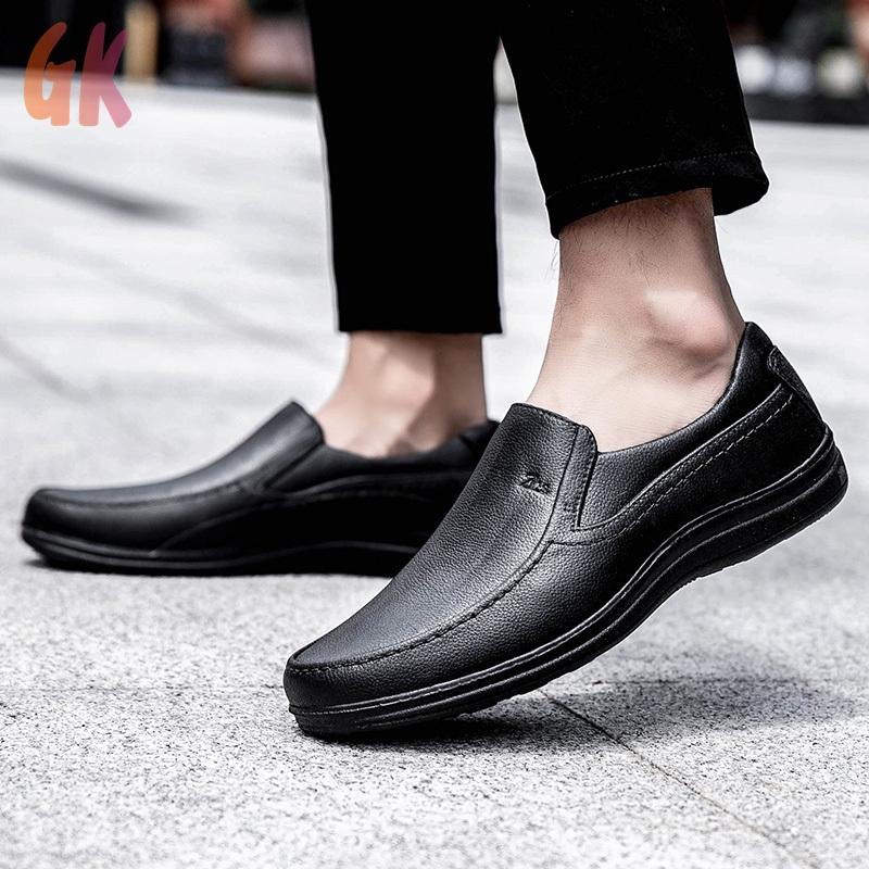 GKD✔ รองเท้าคัชชู loafer รองเท้าหนังแฟชั่น รองเท้าหนังแท้ รองเท้าโลฟเฟอร์ ผู้ชาย รองเท้า รองเท้าหนังแบบผูกเชือก 05