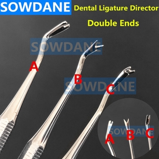 Dental Orthodontic Double Ended Ligature Director Curved with Scaler Fine Narrow Dentist Tool Instrument