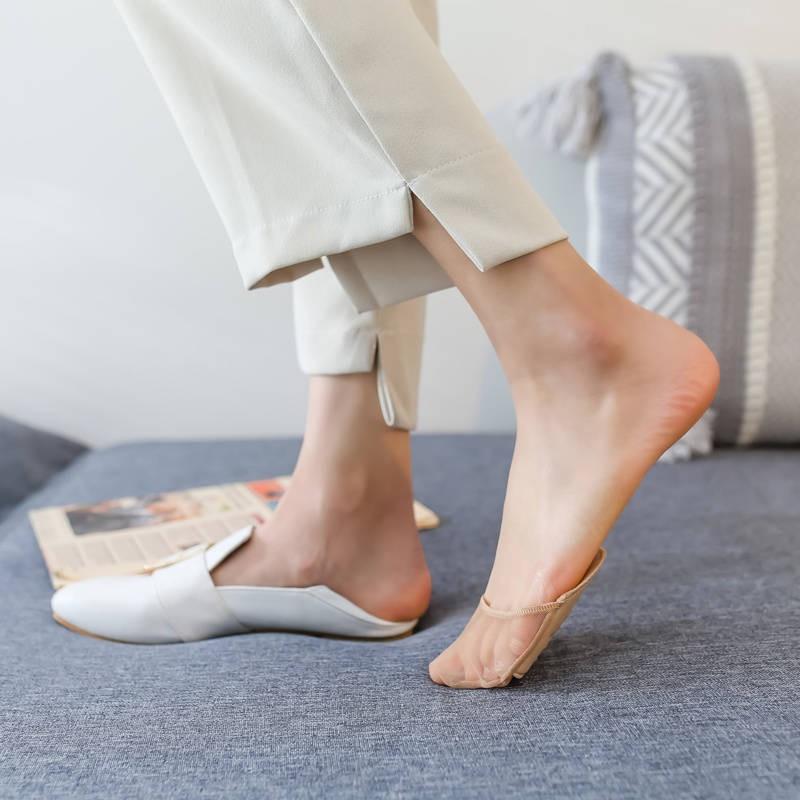 ถุงเท้าผู้หญิง ถุงเท้าแฟชั่น ถุงเท้าคัชชู ถุงเท้า ถุงเท้าสั้น ☜ฤดูร้อนจ่ายรองเท้าส้นสูงกันลื่นถุงเท้าที่มองไม่เห็นปากตื้