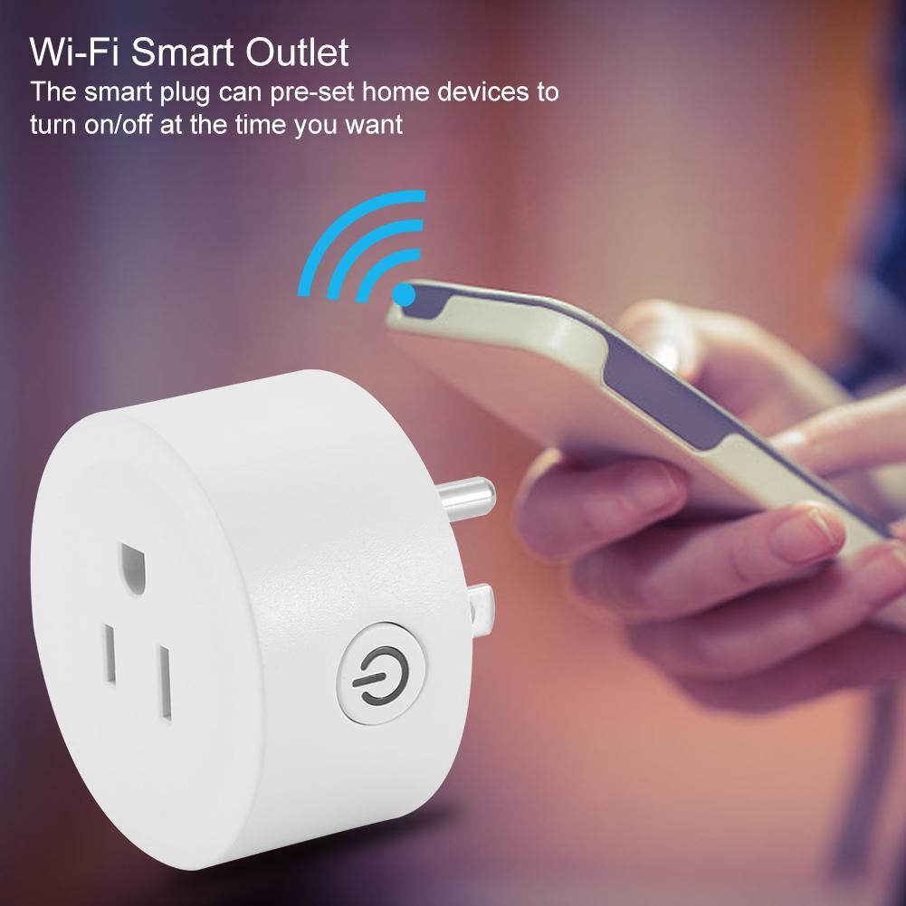 สวิทช์รีโมทควบคุม US Wi-Fi Socket Remote Outlet Plug Smart Google Alexa