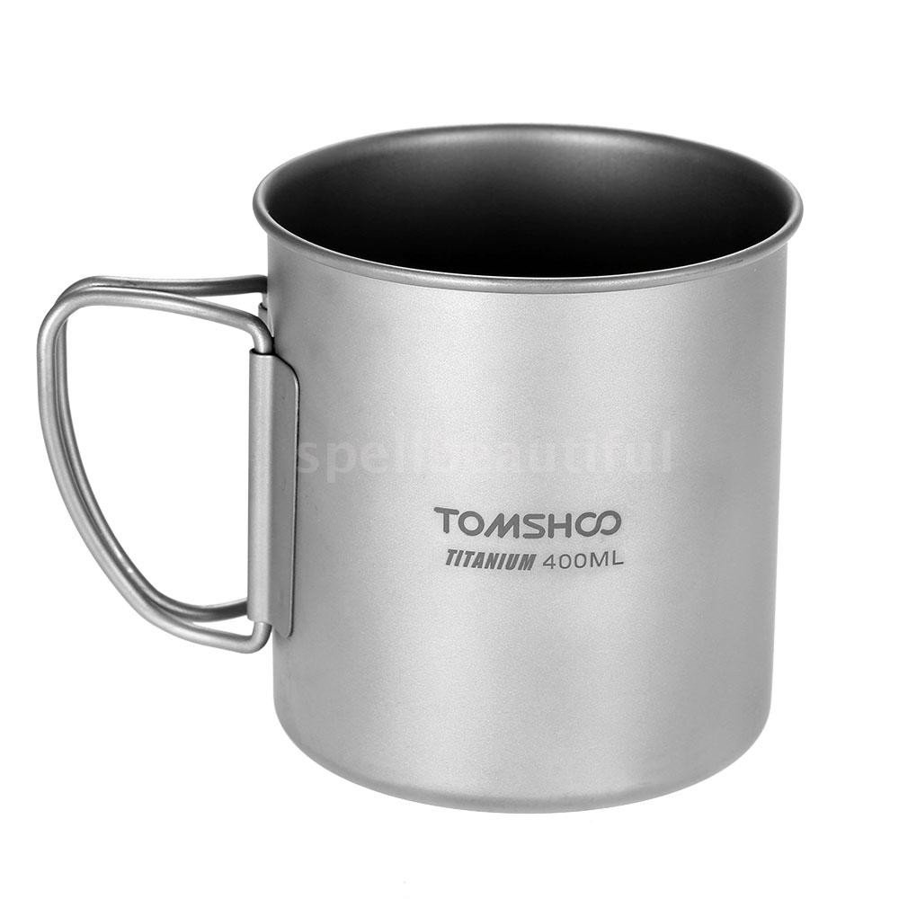 ca1aae8b67a ProductImage. ProductImage. สินค้าหมด. TOMSHOO 400ml Titanium Cup Outdoor  Portable Camping Picnic Water Cup Mug with Foldable Handle