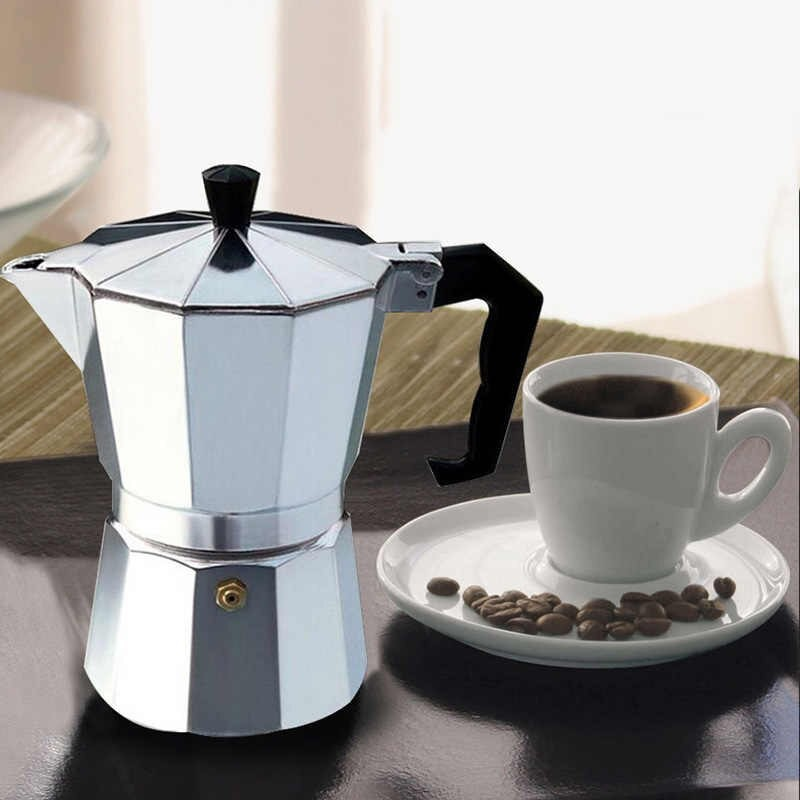หม้อต้มกาแฟสด เครื่องชงกาแฟเอสเพรสโซ่ มอคค่า กาต้มกาแฟสด เครื่องชงกาแฟสด เครื่องทำกาแฟ แบบปิคนิคพกพา goon_