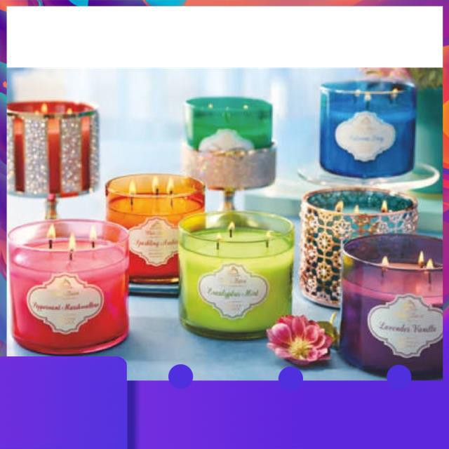 ①♥ (พร้อมส่ง) Bath and Body Work : 3 wick Candle เทียน 3 หัว Paris Cafe / Eucalyptus / Vanilla Birch / Mahogany Teakwood