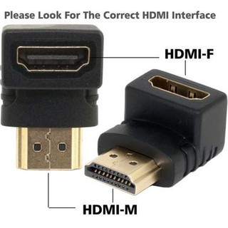 Review HDMI Male to HDMI Female L adepter