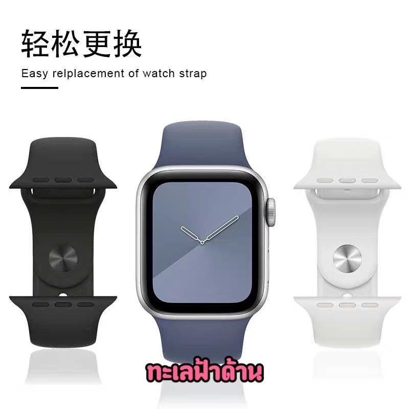 📣🔥💥✒▼พร้อมส่ง‼️สาย สำหรับ Apple Watch สีมาใหม่ series 6 5 4 3 2 1 applewatch ขนาด  42mm 44mm 38mm 40mm