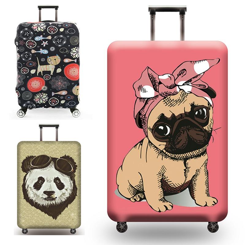ผ้าคลุมกระเป๋าเดินทาง หนายืดหยุ่นกระเป๋าเดินทางกระเป๋าเดินทางป้องกัน 32 กรณีรถเข็นกันฝุ่นหนังกระเป๋าเดินทาง 28/30/32 นิ้