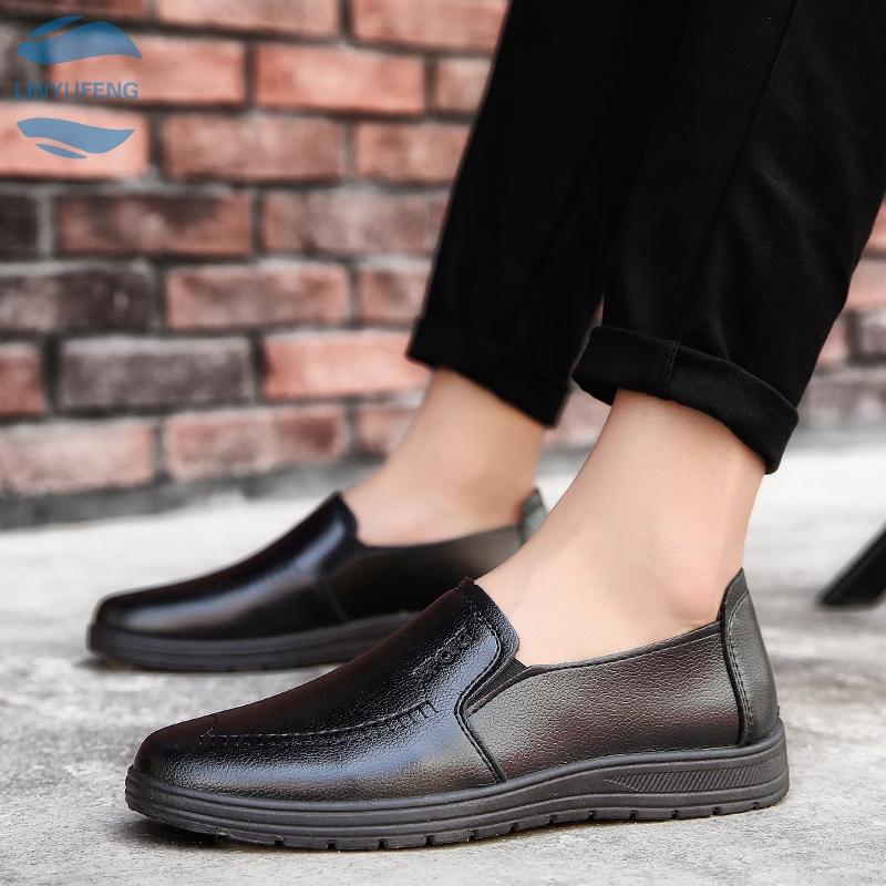 LYF➡ รองเท้าคัชชู loafer รองเท้าหนังแท้ รองเท้าหนังแฟชั่น รองเท้า รองเท้าหนังแบบผูกเชือกรองเท้าโลฟเฟอร์ ผู้ชาย 04