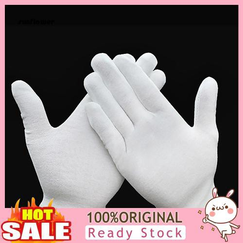 White Cotton Inspection Gloves Small Package Of 12