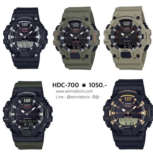 นาฬิกาคาสิโอ Casio รุ่น HDC-700 ของแท้ รับประกัน 1 ปี WBwatch