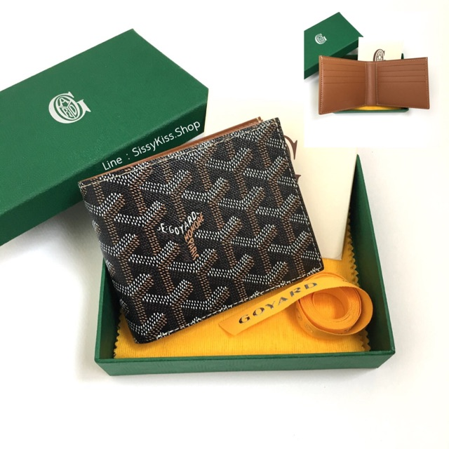 New Goyard 8 cards wallet น้ำตาล