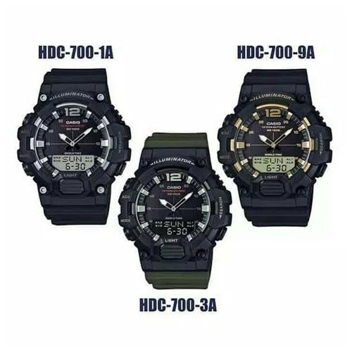 [วินาที] Casio Standard นาฬิกาข้อมือผู้ชาย สายเรซิน รุ่น HDC-700