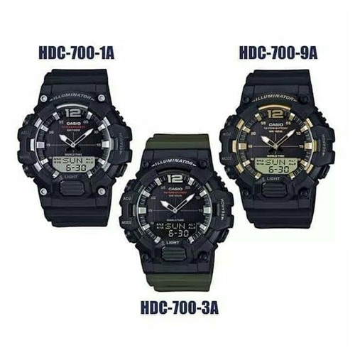 Casio Standard นาฬิกาข้อมือผู้ชาย สายเรซิน รุ่น HDC-700