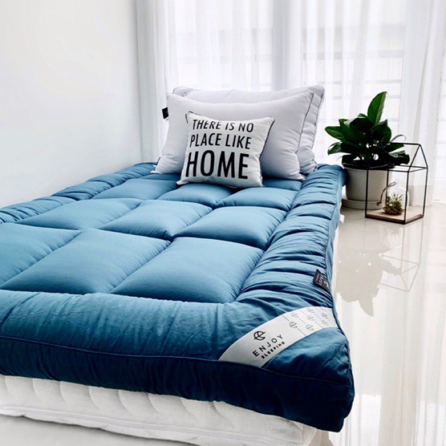 ►☊Enjoysleeping Topper ที่นอน เบาะรองนอน ที่รองนอน  ท็อปเปอร์ ที่นอนเพิ่มความนุ่ม ที่นอนปิคนิค Topper 6ฟุต 5ฟุต 3.5ฟุต