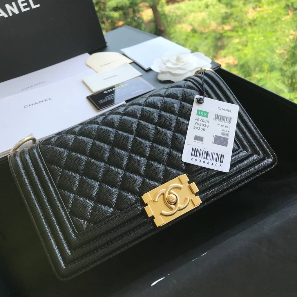 "Chanel Boy 10"" Grade vip size 25cm full box set อะไหล่ทอง"