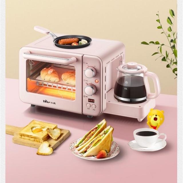 เครื่องไมโครเวฟ เครื่องทำกาแฟ ทำเมนูอาหารเช้า 3IN1