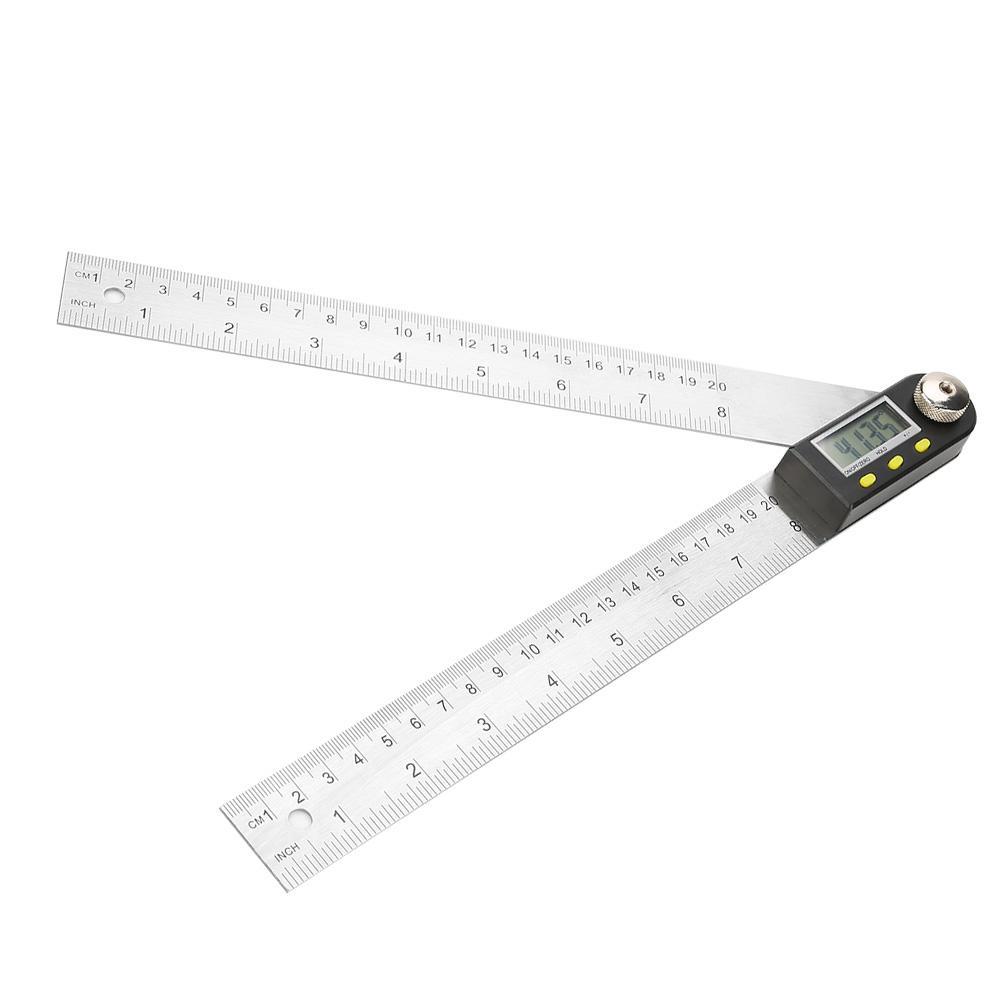 200mm Digital Angle Finder Ruler Protractor Measure Meter Stainless Steel 0-360°