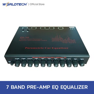 Review Worldtech EQ Equalizer Audio system 7 band pre-parametric with subwoofer ปรีแอมป์รถยนต์