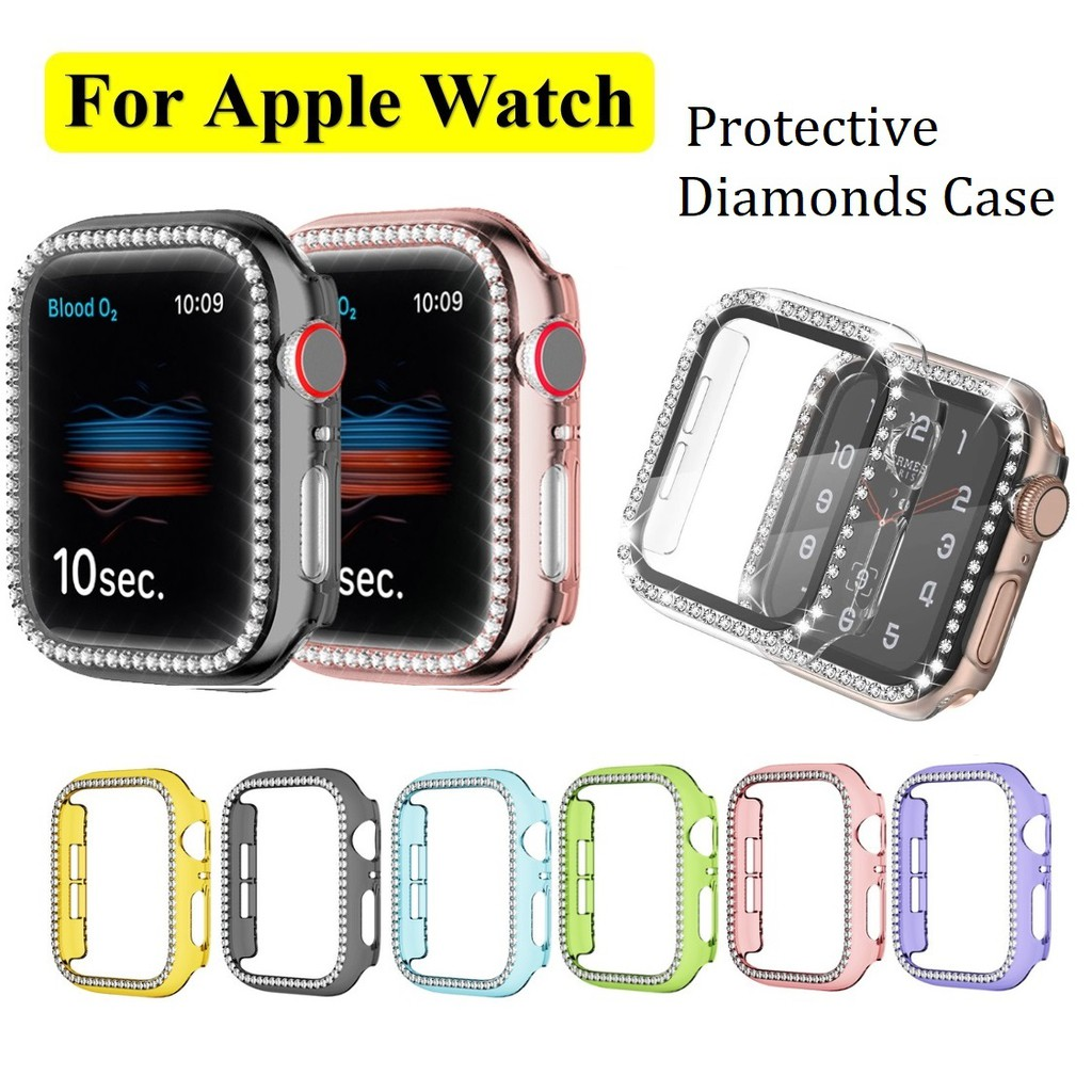Apple Watch Case Bling Diamond Bumper Clear Protective case Cover applewatch iwatch series 6/5/4/3/2/1, Apple Watch SE Applewatch Case