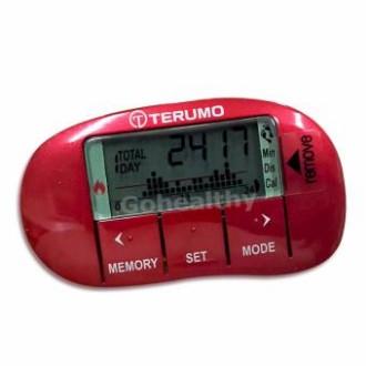 ส่งฟรี Terumo Activity Monitor เครื่องนับก้าว และ วัดการเผาผลาญ พลังงาน เทอรูโม สีแดง Gohealthyฟรีค่าส่ง