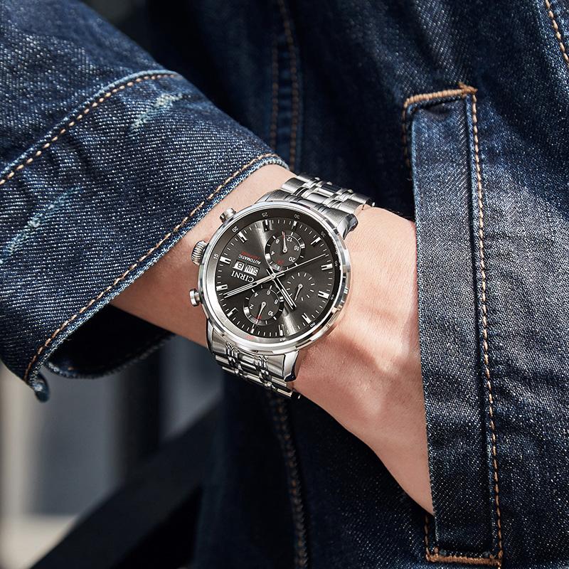 ☼⊗สายนาฬิกา applewatchสายนาฬิกา gshockสายนาฬิกา smartwatchSianiนาฬิกาจักรกลอัตโนมัติสิบนาฬิกาผู้ชายกันน้ำกีฬาเข็มขัดเหล็