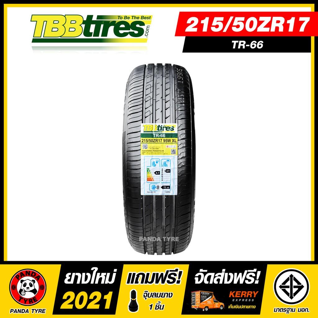 TBB TIRES 215/50R17 ยางรถยนต์ขอบ17 รุ่น TR66 - 1 เส้น (ยางใหม่ผลิตปี 2021)