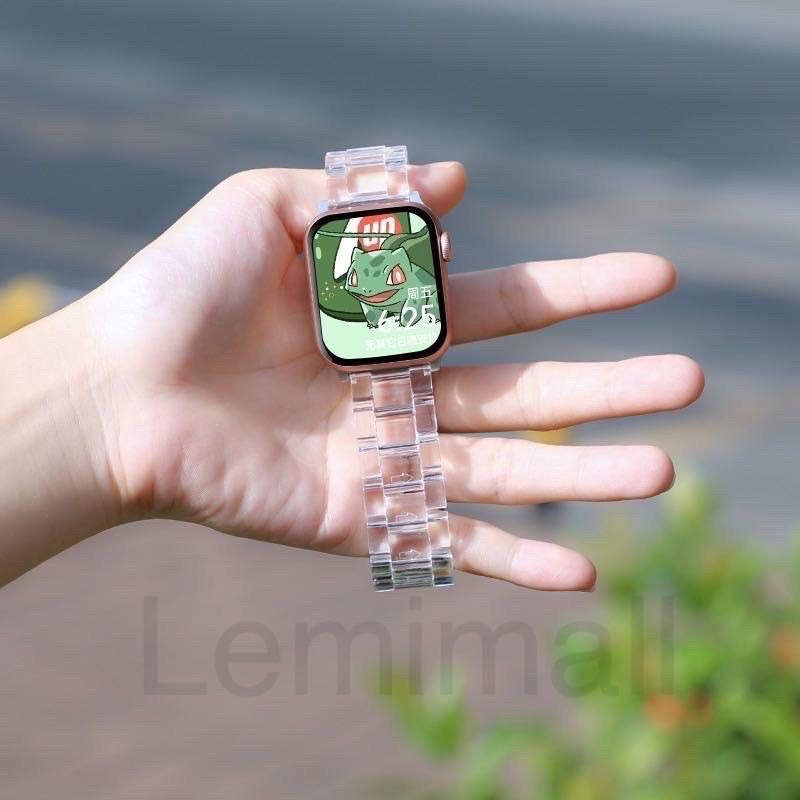 ▧♙สายนาฬิกาข้อมือแบบใสสําหรับ applewatch6  5 4 3 2 1 band 42 มม. 38 iwatch series6 3/2/1 44