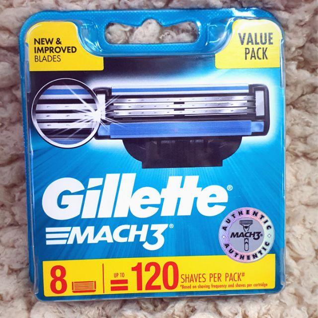 [ ใบมีดGillette MACH3 (8 ใบมีด) ใช้งานได้ถึง 120 ครั้ง ] สินค้าเป็นของเเท้ 100 %