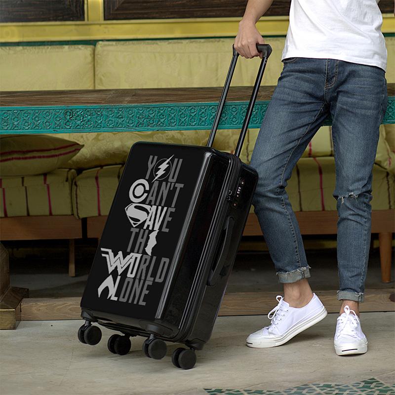 ↻⅜ กระเป๋าเดินทางกลางแจ้ง กระเป๋าเดินทางผู้ชาย24นิ้วล้อสากลนักเรียนเกาหลีรหัสผ่านรถเข็นกล่อง20เด็กบุคลิกภาพการ์ตูนกระเป๋