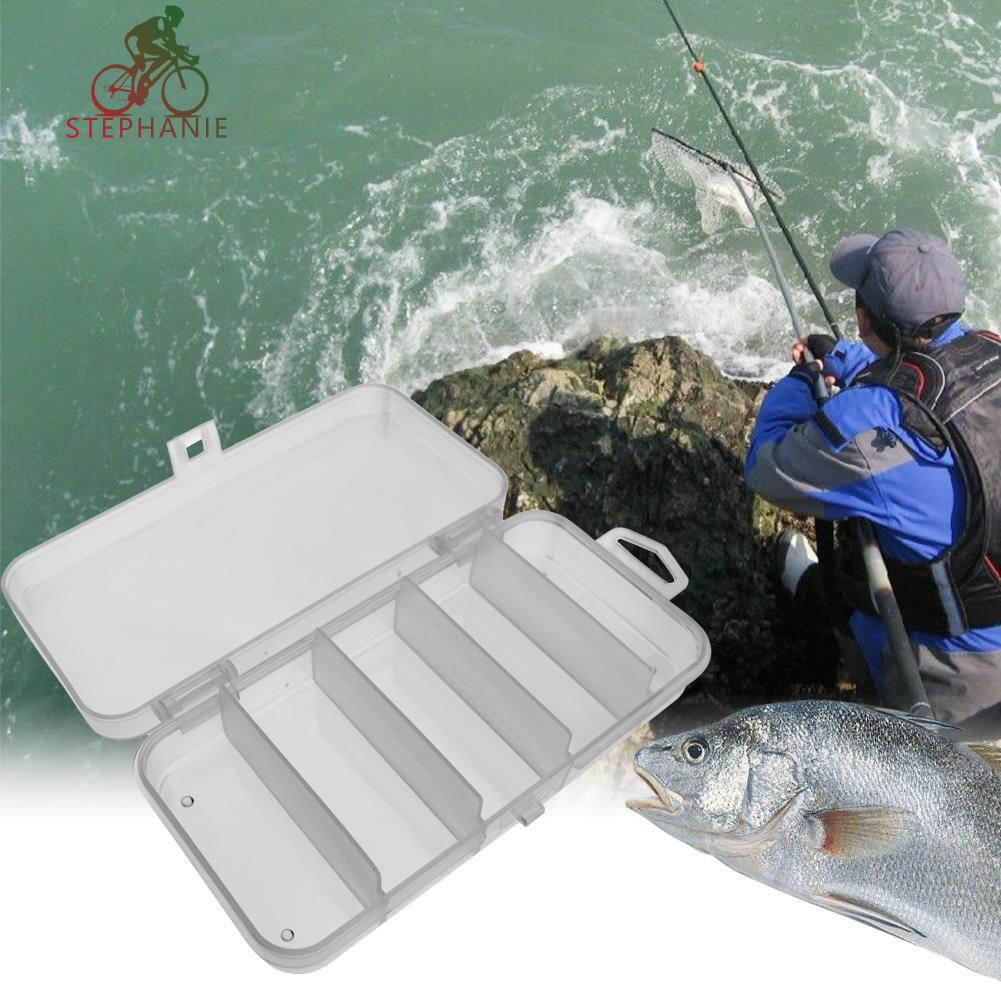 Plastic Fly Fishing Jig Box Fishing Bait Lure Storage Case 28 Compartment