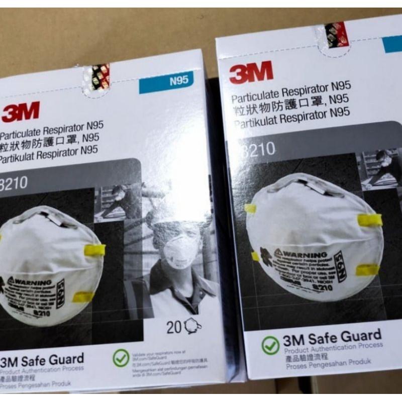 3m N95 Mask 1 Box - Mask 8210 3m N95 - หน้ากากป้องกันแบคทีเรีย N95 3m 8210 - N95