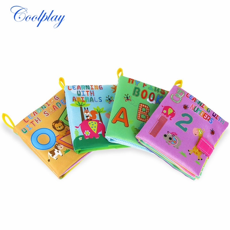 Soft Cloth Learning Books Baby Animal Shae Number Cognition Quiet Books for Kids Infant 012 Months Books Early Education