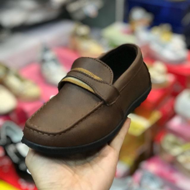 รองเท้าคัชชูเด็กชายหนังนิ่ม สีน้ำตาล ไซส์ 31-36