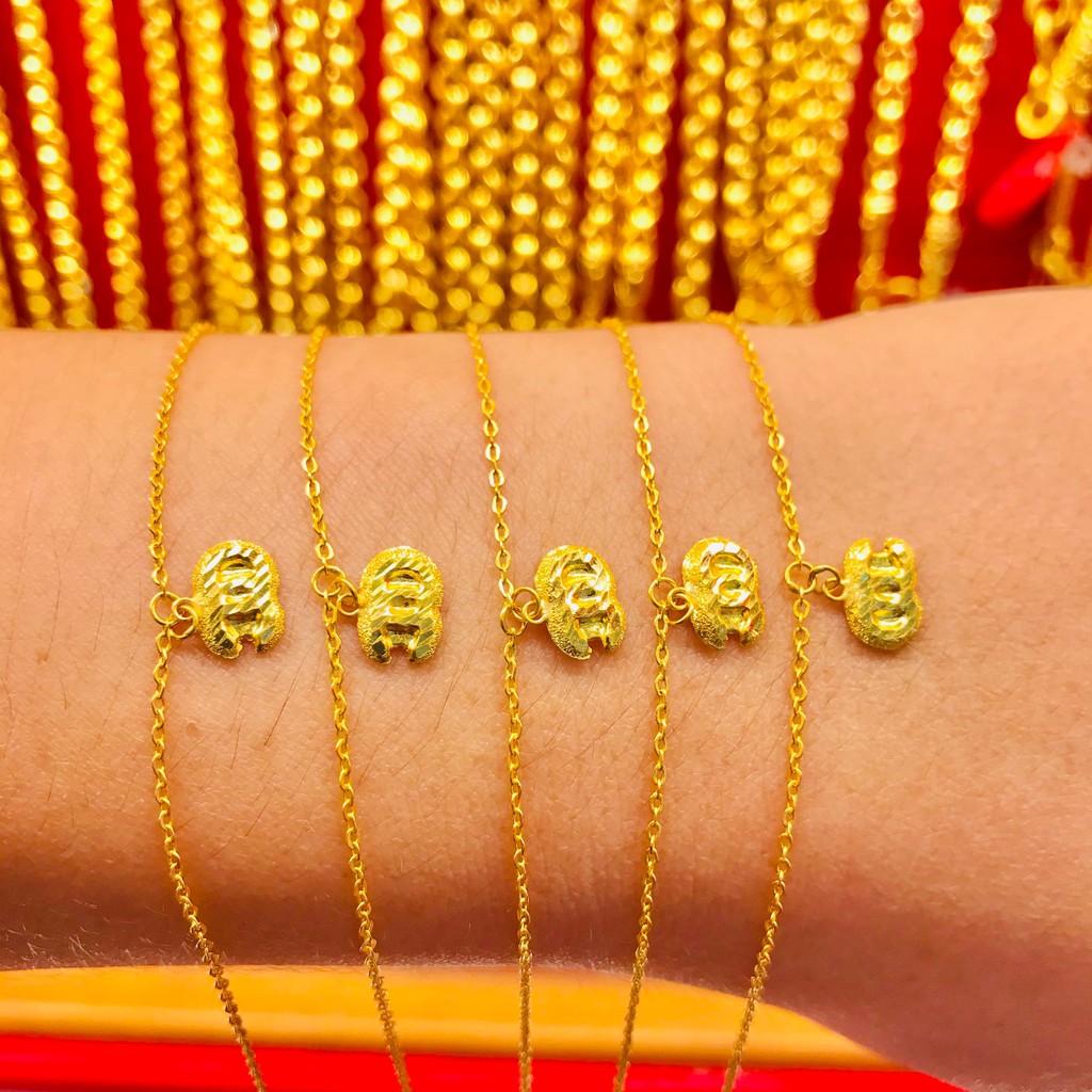 ข้อมือทองคำแท้ นำ้หนัก 1 กรัม  ลายโอซี ทองคำแท้ 96.5% มีใบรับประกันสินค้า น้ำหนักเต็ม ราคาโดนใจ
